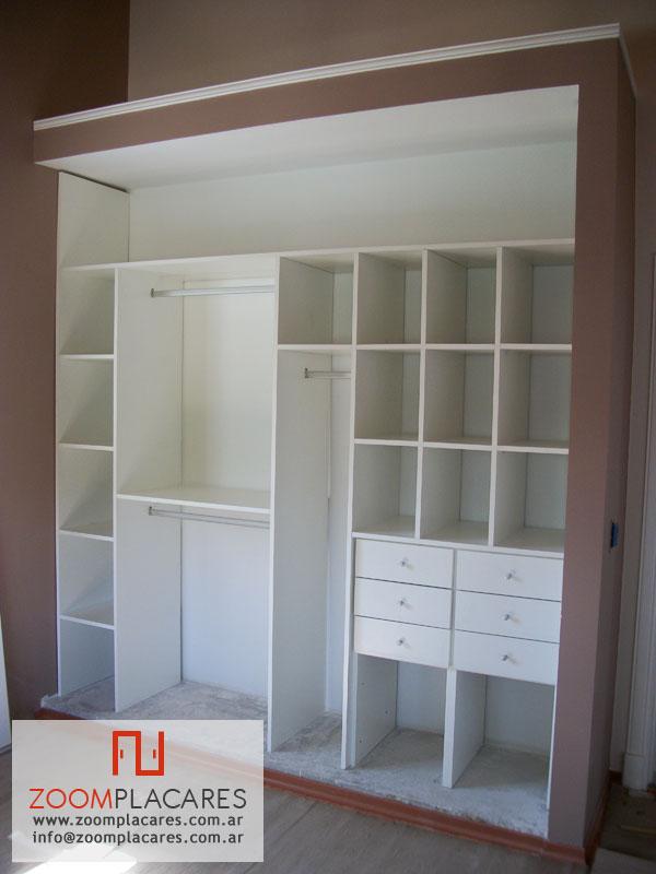 Fotos y modelos de vestidores interiores de placard for Modelos de zapateras de melamina